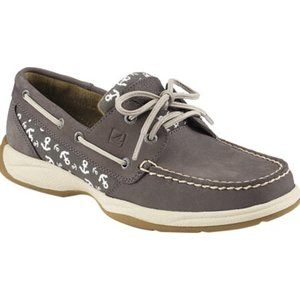 Sperry Intrepid Anchors Graphite Boat Shoes Sz 7